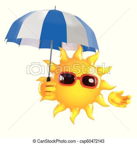 3d Sun has an umbrella.