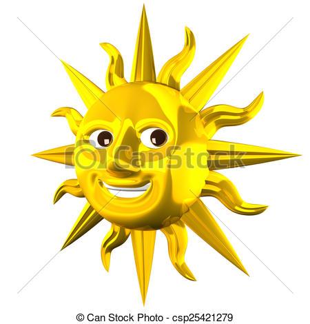 Golden Smiling Sun.