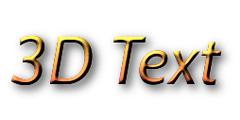 3D Text Logo Creator.