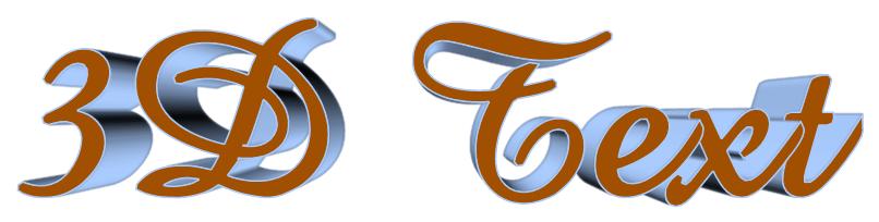 Text Effect Tutorials: 3D perspective text maker online.