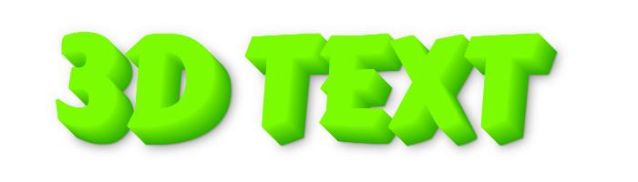 Online 3D Text Maker Free #38160.
