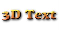 3D Logos on FlamingText.com.