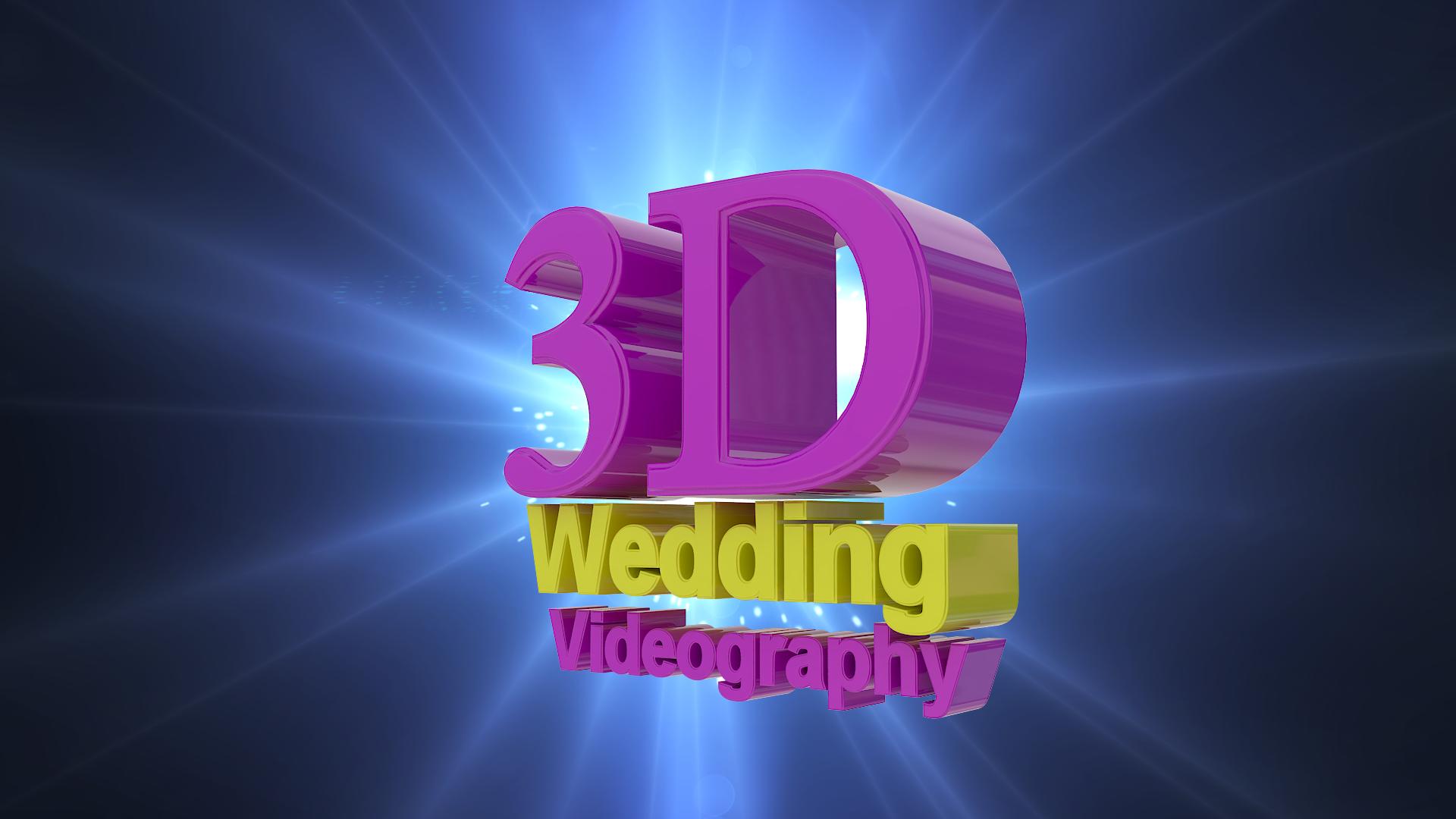 3D text logo.