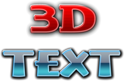 14 Free Psd 3D Text Images.