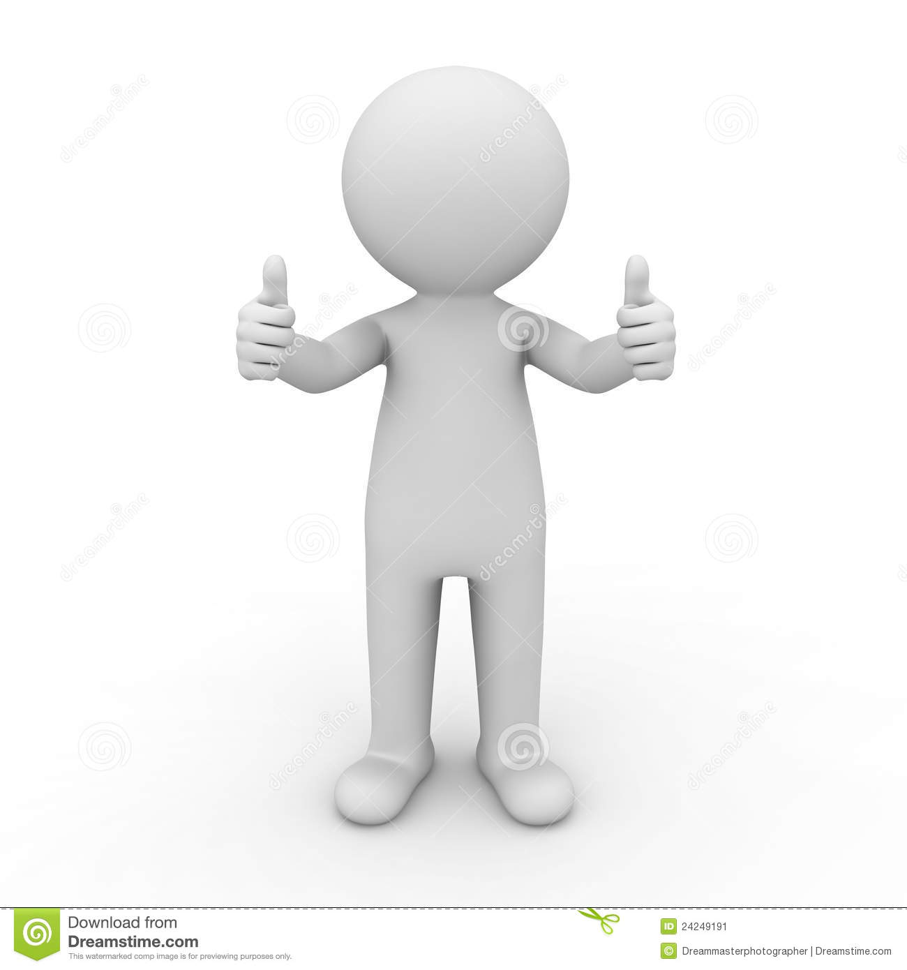 3d man showing thumbs up stock illustration. Illustration of.