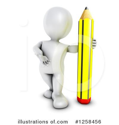 3d White Man Clipart #1258456.