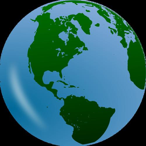 3D globe vector clip art.