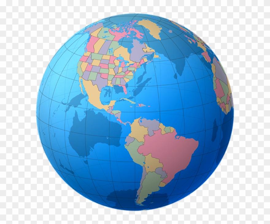 Globe Clipart Colourful.