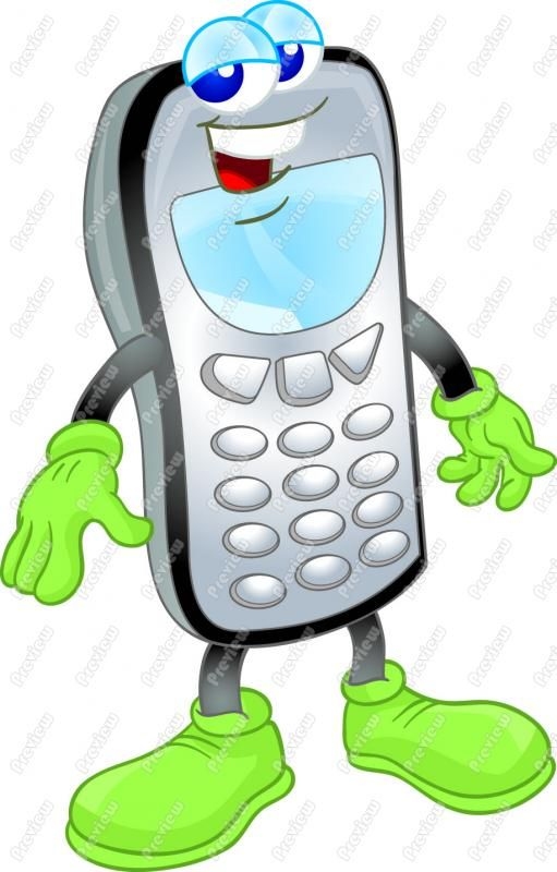 Animated cell phone clipart, 3d.