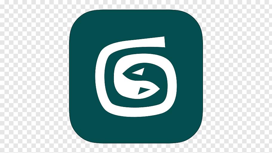 Square white and blue logo, trademark brand aqua symbol.