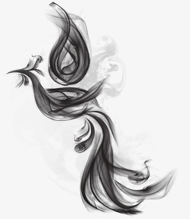 Black Phoenix Misty Smoke Png, Clipart, 3g Wallpaper.