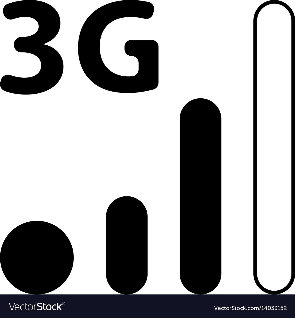 Mobile smart phone 3g network icon.