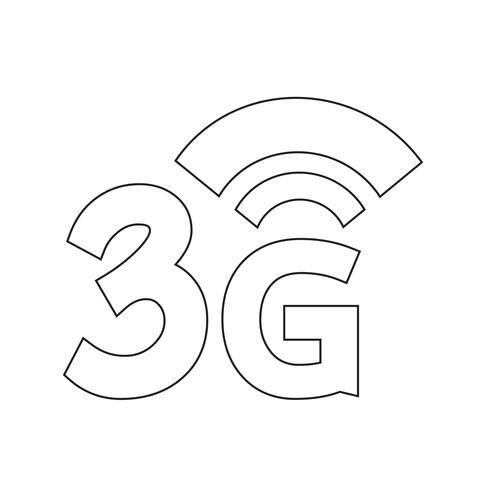 3G Wireless Wifi icon.