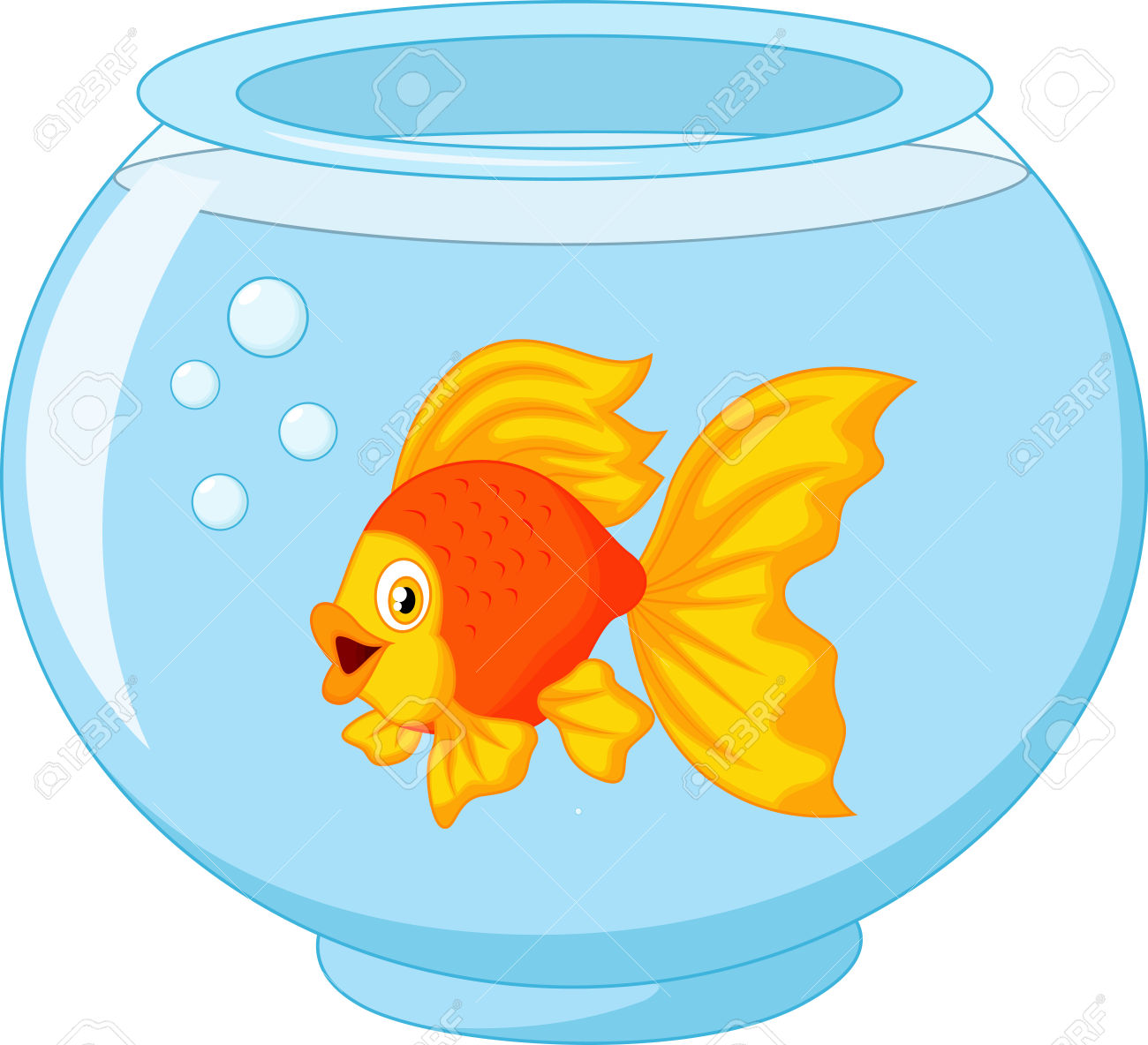 Fish In A Bowl Clipart.