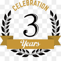 3rd Anniversary PNG and 3rd Anniversary Transparent Clipart.