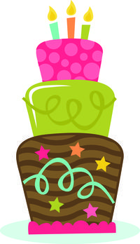 3rd birthday cake clipart 8 » Clipart Station.