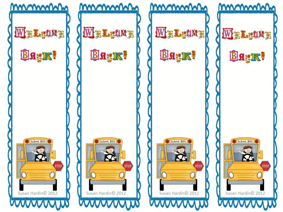 3rd Grade Grapevine: Free Welcome Back to School Bookmarks.