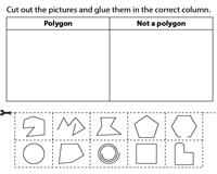 Polygons Worksheets.