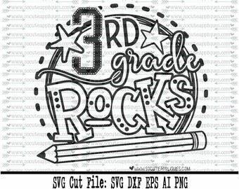3rd grade rocks svg.