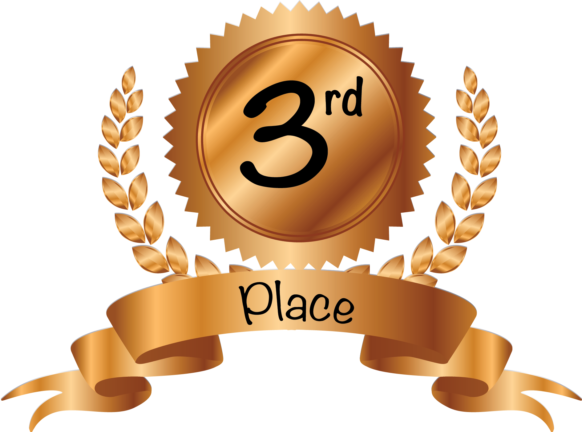 3rd Place Trophy Clipart.