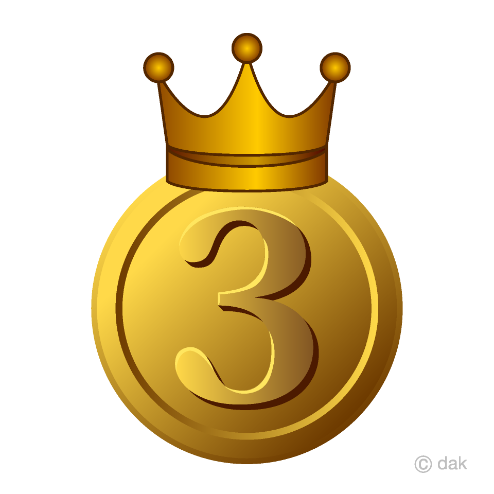 Free Copper Crown Medal in 3rd place Image|Illustoon.
