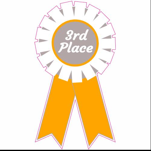 3rd Place Ribbon Sticker.