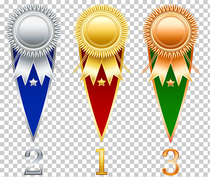 Prize Ribbon , Rosette Prize Set Transparent , 1st, 2nd, and 3rd.