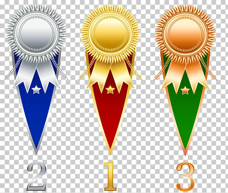 Prize Ribbon , Rosette Prize Set Transparent , 1st, 2nd, and 3rd.