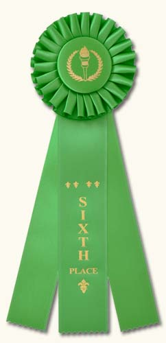 Classic Three Streamer Rosette Award Ribbons: Traditional designs.