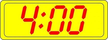 Digital Clock 4:00 clip art Clipart Graphic.
