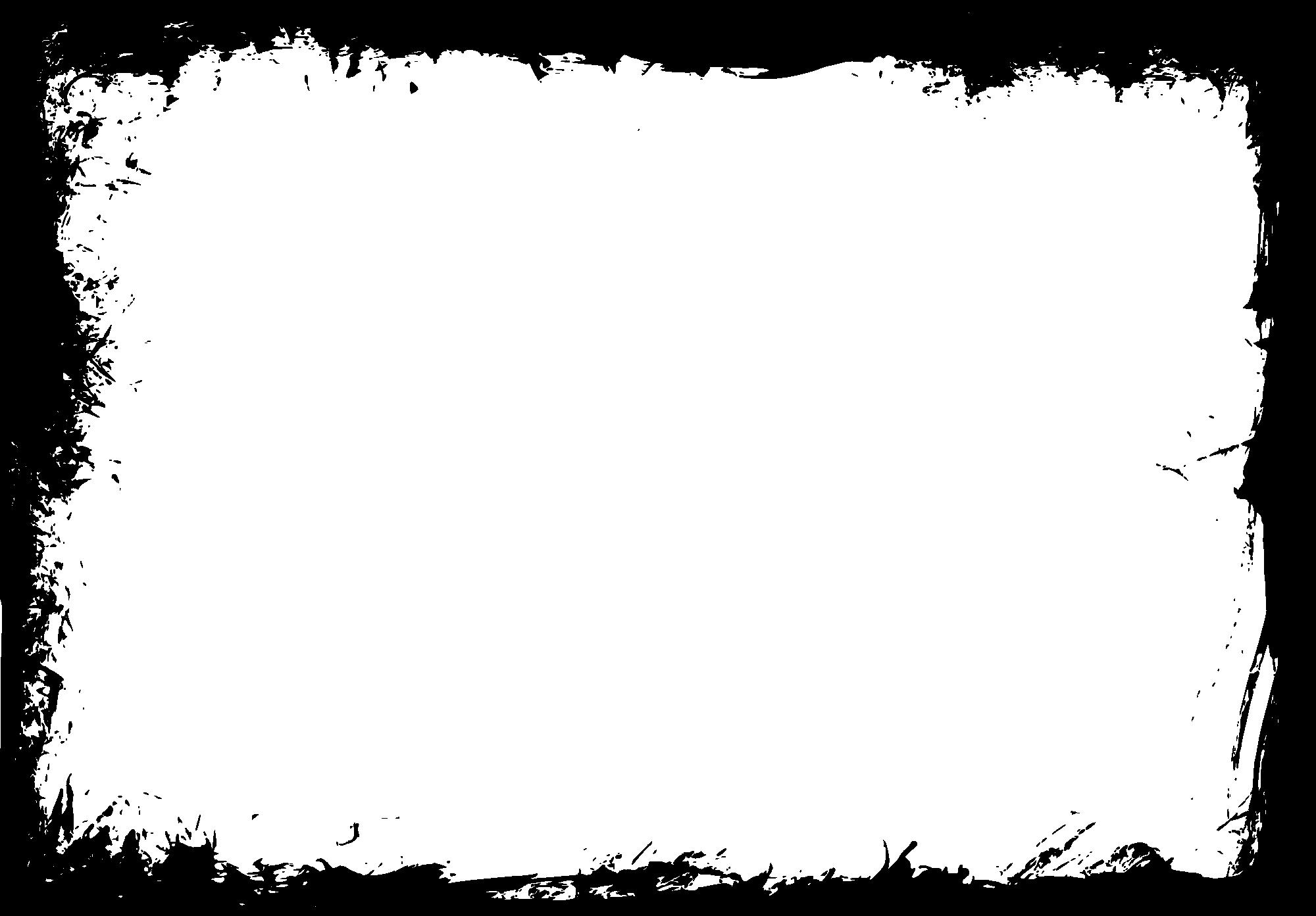 10 Rectangle Grunge Frame (PNG Transparent) Vol.4.