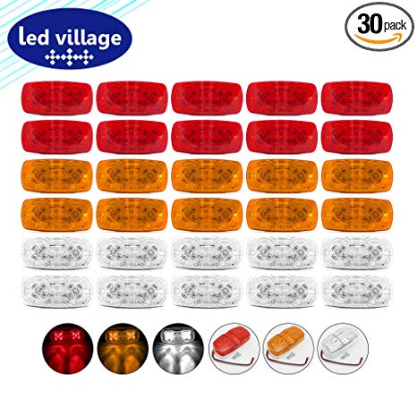 Amazon.com: LedVillage [Pack of 30] 4 Inch 10 Amber + 10 Red.