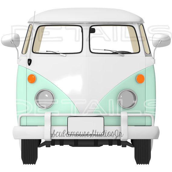 70% OFF THRU 4/16 VW Bus Clipart. by ScubamouseStudiosJr on.