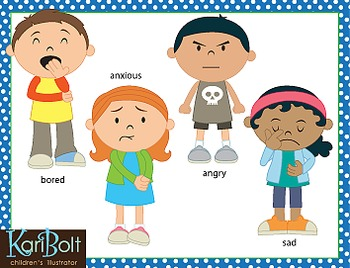 FREE FOR 2 DAYS ONLY!!Cute kids illustrate lots of emotions in.