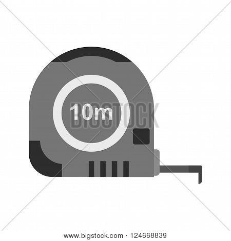 Tape, measure, meters icon vector image. Can also be used for.