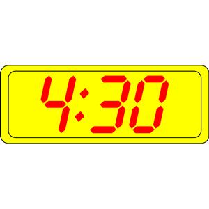 Digital Clock clipart, cliparts of Digital Clock free.