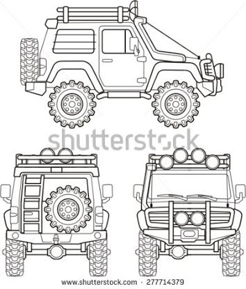 four wheel drive clipart.
