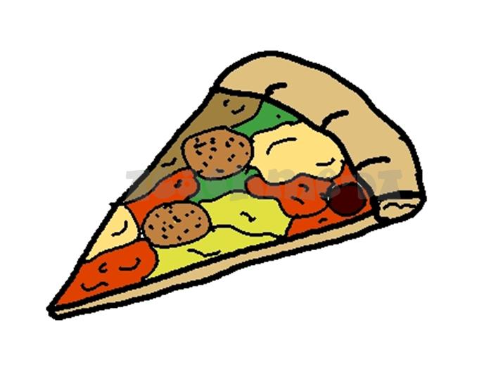Whole Cheese Pizza Clipart.