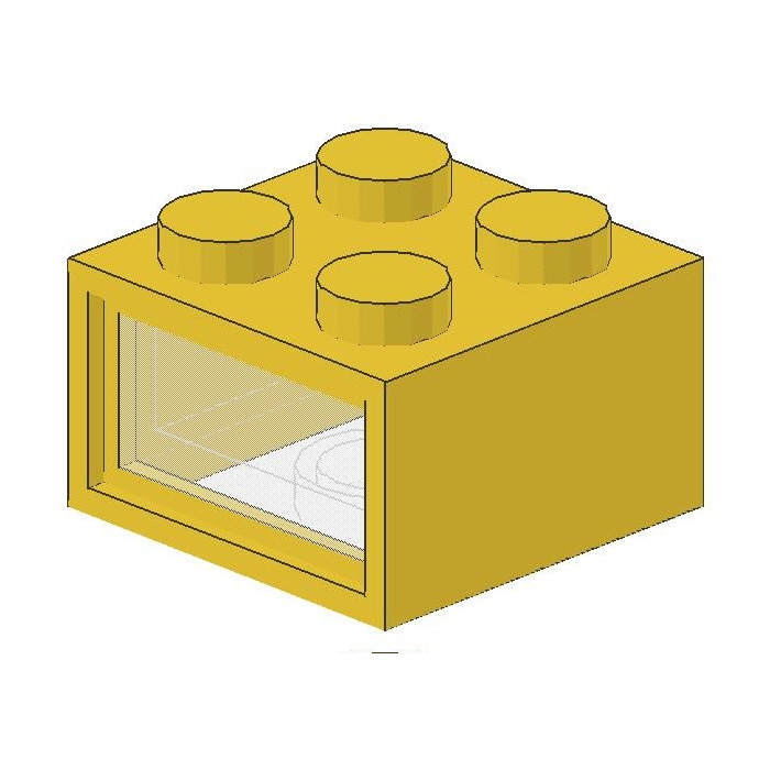 LEGO 4.5V Electric Brick with 3 Holes & Clear Diffuser Lens.