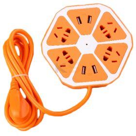 5V/10A 4 USB Ports Orange Design Charging Station Universal Socket.