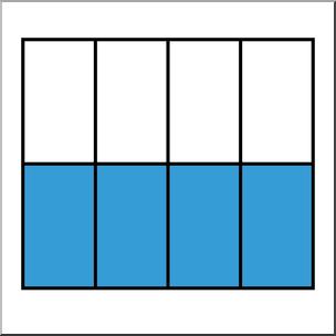 Clip Art: Rectangle08 4/8 Color I abcteach.com.