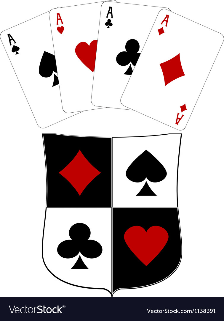 Shield and four aces.