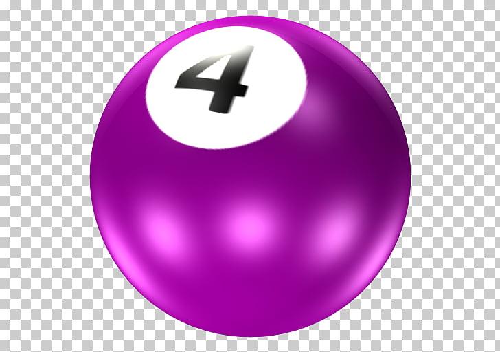 Ball Pool ICO Icon, Billiards purple No. 4 PNG clipart.