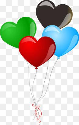 4 Balloons PNG Images.