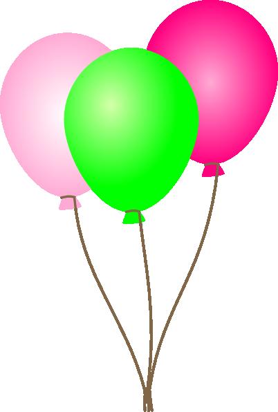 Purple balloons clipart 4.