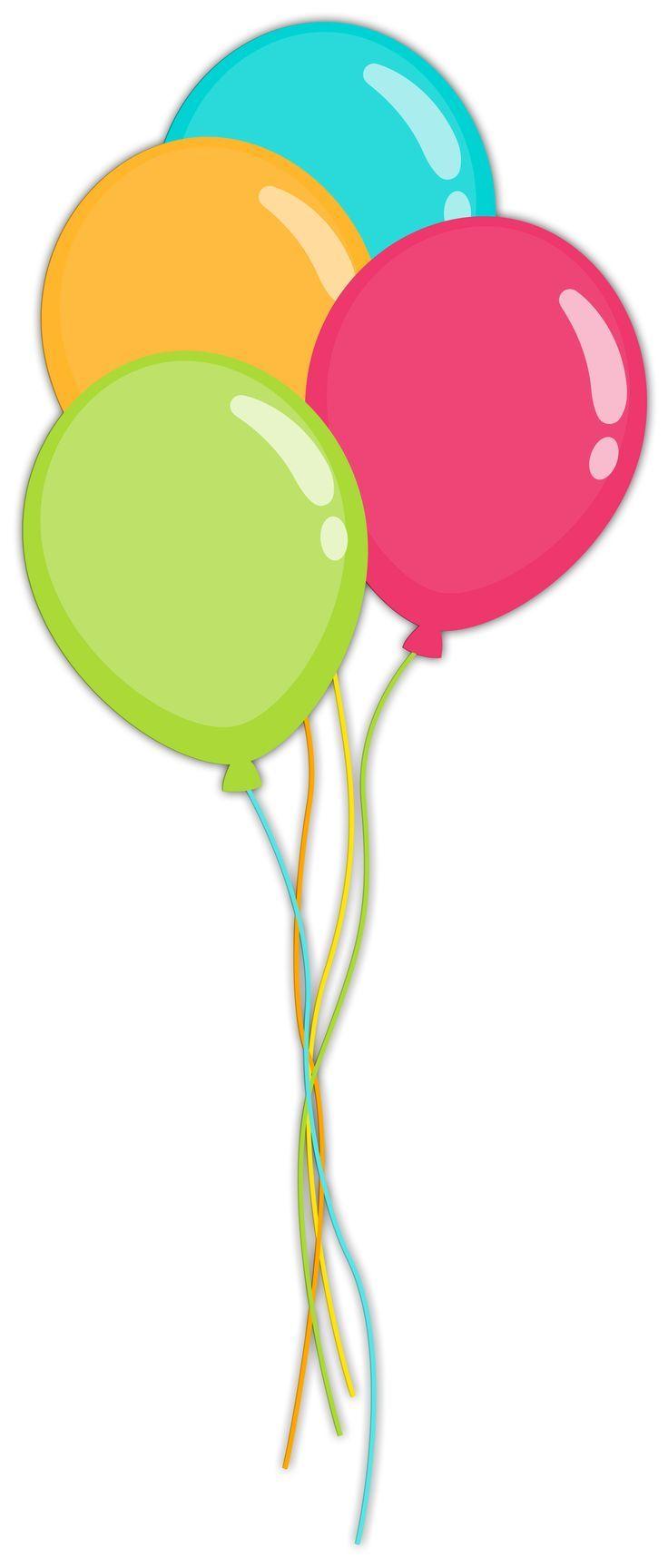 4 balloons clipart » Clipart Portal.