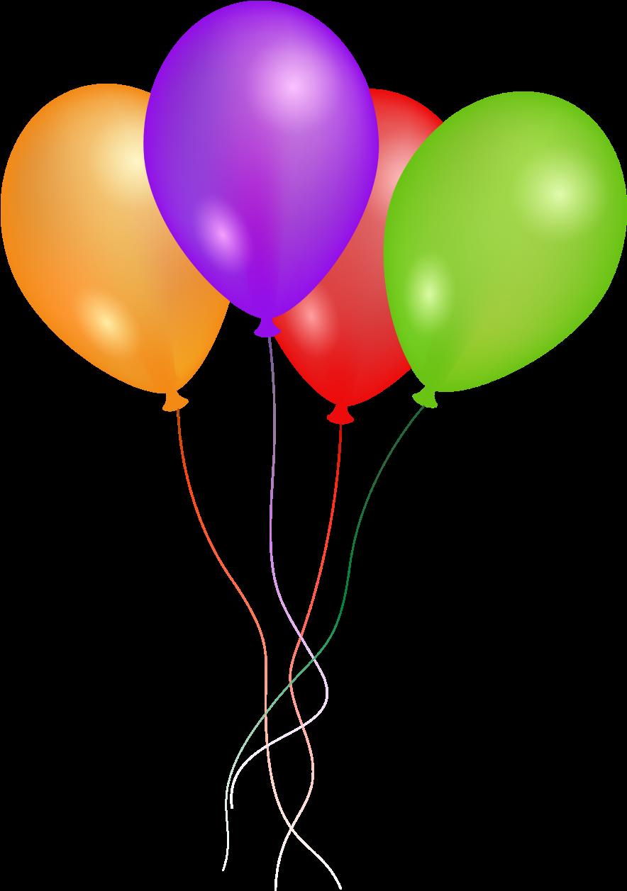 4 Balloons Clipart.