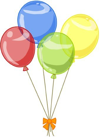 Clipart birthday balloons 4 » Clipart Station.