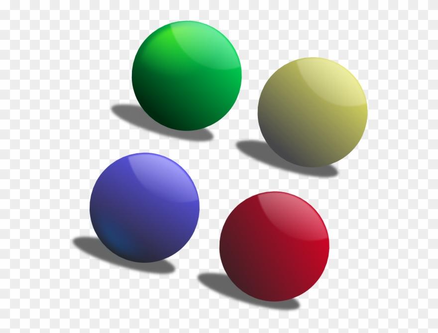 4 Balls Clipart.