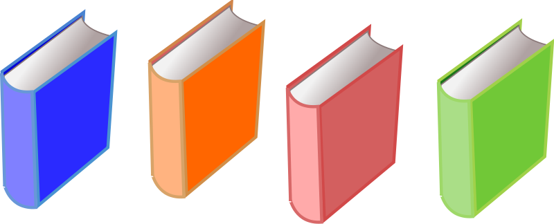 Free Clipart: Books of 4.